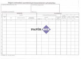 B.15-46/B Szigorú számadású nyomtatványok beszerzésének nyilvántartása