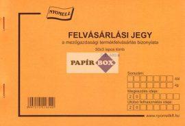 D.E.480/A Felvásárlási jegy A/5 50x3pld