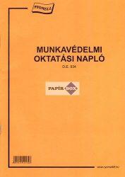 D.E.934 Munkavédelmi oktatási napló A/4
