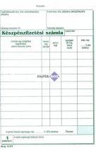 *B.13-373/V Készpénzfizetési számlatömb A/5 álló 50x2 példányos - 1 Áfás