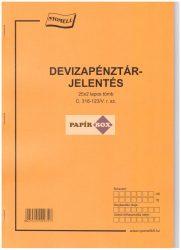 C.318-123 Deviza pénztárjelentés A/4 25x2 példányos