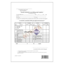 A.3510-217 Beutalás munkaköri orvosi alkalmassági vizsgálatra, A/4,