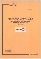 D.VV. 1250/b. Fizetővendéglátó vendégkönyv