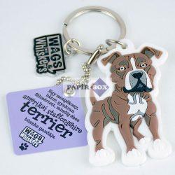 Amerikai Staffordshire Terrier kulcstartó