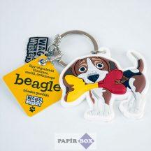 Beagle kulcstartó