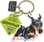Dobermann kulcstartó