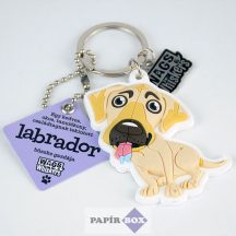 Labrador kulcstartó