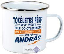 Top Pasik fémbögre, András