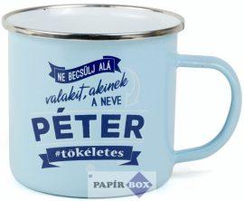 Top Pasik fémbögre, Péter
