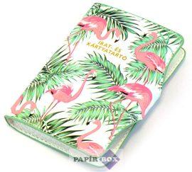 Irat- és kártyatartó, Flamingó