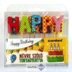 Névre szóló tortagyertya, Happy Birthday
