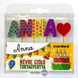 Névre szóló tortagyertya, Anna