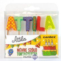 Névre szóló tortagyertya, Attila