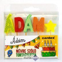 Névre szóló tortagyertya, Ádám