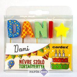 Névre szóló tortagyertya, Dani