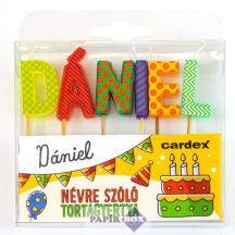 Névre szóló tortagyertya, Dániel