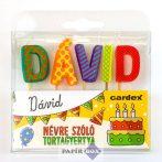 Névre szóló tortagyertya, Dávid
