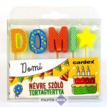Névre szóló tortagyertya, Domi