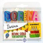 Névre szóló tortagyertya, Dorina