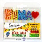 Névre szóló tortagyertya, Emma