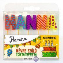 Névre szóló tortagyertya, Hanna