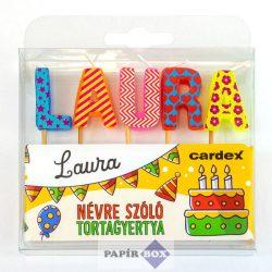 Névre szóló tortagyertya, Laura