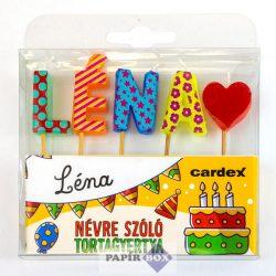 Névre szóló tortagyertya, Léna