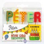 Névre szóló tortagyertya, Péter