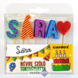 Névre szóló tortagyertya, Sára