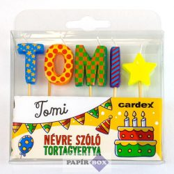 Névre szóló tortagyertya, Tomi