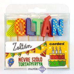 Névre szóló tortagyertya, Zoltán