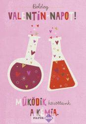 Képeslap, Valentin nap, kémia