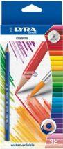 Színes ceruza készlet 12db + ecset, Lyra Osiris akvarell