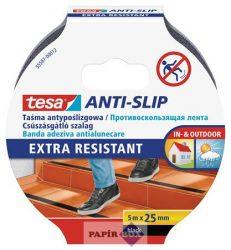 """Csúszásgátló szalag, 25 mm x 5 m, TESA """"Anti-slip"""", fekete"""