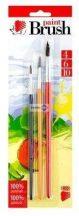 Ecset készlet, 3db-os (4-6-10 méretűek), Ico Süni