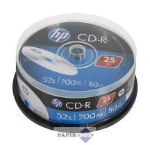 CD-R lemez, 700MB, 52x, hengeren, HP, 25db/csg