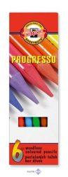 """Színes ceruza készlet, henger alakú, famentes, KOH-I-NOOR """"Progresso 8755/6"""""""