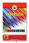 """Színes ceruza készlet, henger alakú, famentes, KOH-I-NOOR """"Progresso 8756/12"""""""