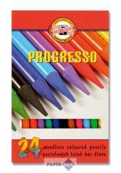 """Színes ceruza készlet, henger alakú, famentes, KOH-I-NOOR """"Progresso 8758/24"""""""