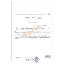 A.TÜ 724 Felvételi és mulasztási napló külív, 4 oldal, A/4