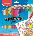 """Színes ceruza készlet, háromszögletű, MAPED """"Color'Peps"""", 48db/klt"""