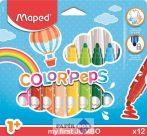 """Filctoll készlet, 1- 5 mm, kimosható, vastag, MAPED """"Color'Peps Jumbo"""", 12 különböző szín"""