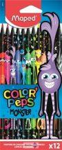 """Színes ceruza készlet, háromszögletű, MAPED """"Color'Peps Monster"""""""