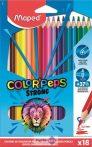 """Színes ceruza készlet, háromszögletű, MAPED """"Color'Peps Strong"""", 18db/klt"""