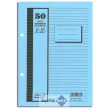 Gyűrűskönyv betét A/5, 2gyűrűs, 50 lapos, többféle